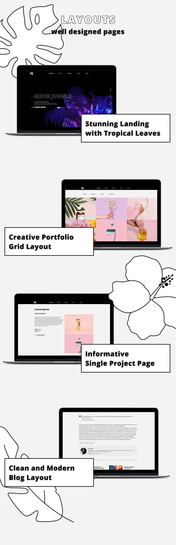 Neon Jungle — Creative Agency Template - 3